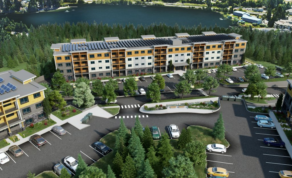 Rendering of Lakeview Terrace from above